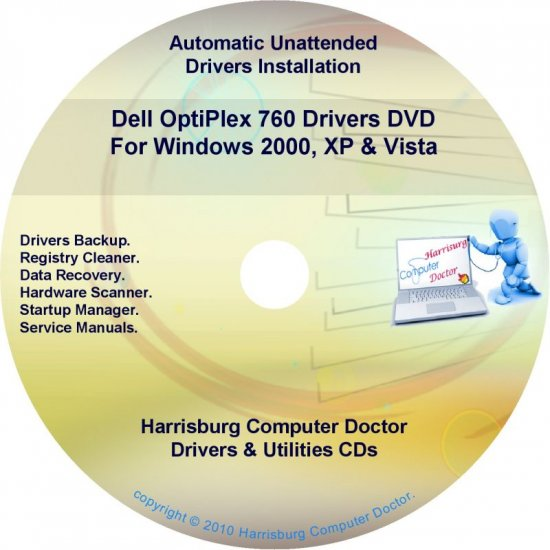 Dell OptiPlex 760 Drivers Restore  Disc Disk CD/DVD