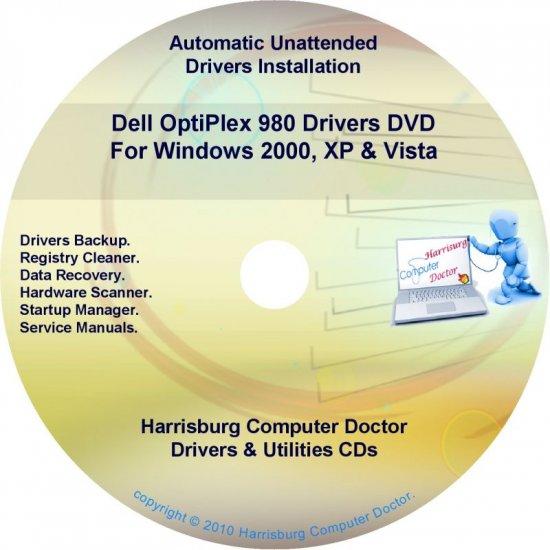Dell OptiPlex 980 Drivers Restore  Disc Disk CD/DVD