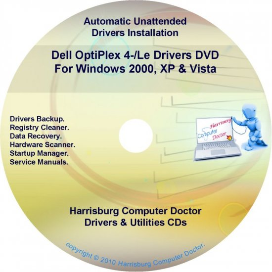 Dell OptiPlex 4-Le Drivers Restore  Disc Disk CD/DVD