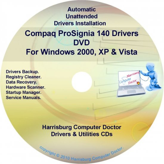 Compaq ProSignia 140 Drivers Restore HP Disc CD/DVD