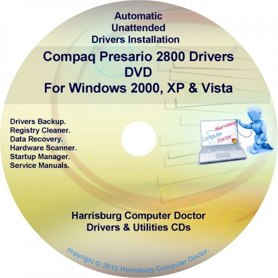 Compaq Presario 2800 Drivers Restore HP Disc CD/DVD