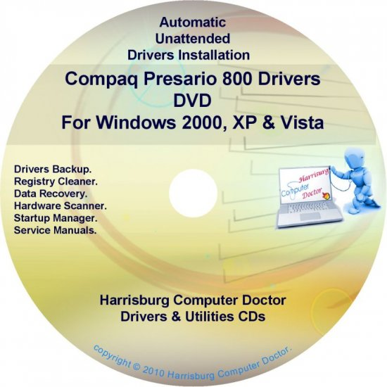 Compaq Presario 800 Drivers Restore HP Disc Disk CD/DVD