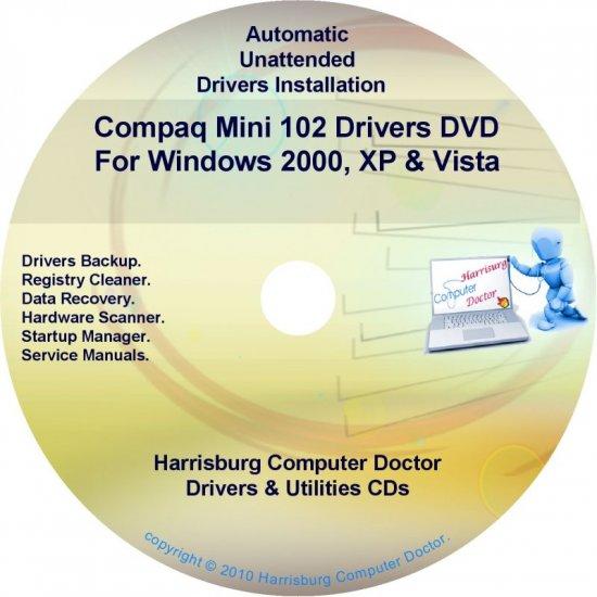 Compaq Mini 102 Drivers Restore HP Disc Disk CD/DVD