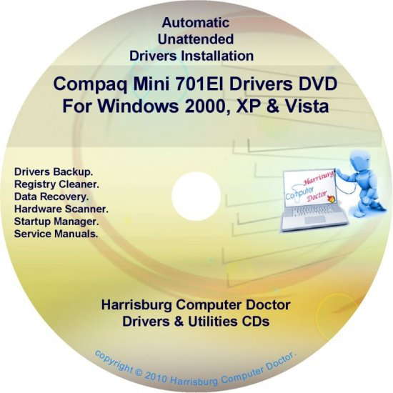 Compaq Mini 701EI Drivers Restore HP Disc Disk CD/DVD