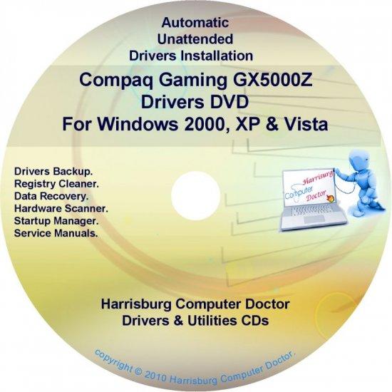 Compaq Gaming GX5000Z Drivers Restore HP Disc CD/DVD