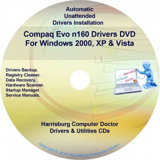 Compaq Evo n160 Drivers Restore HP Disc Disk CD/DVD