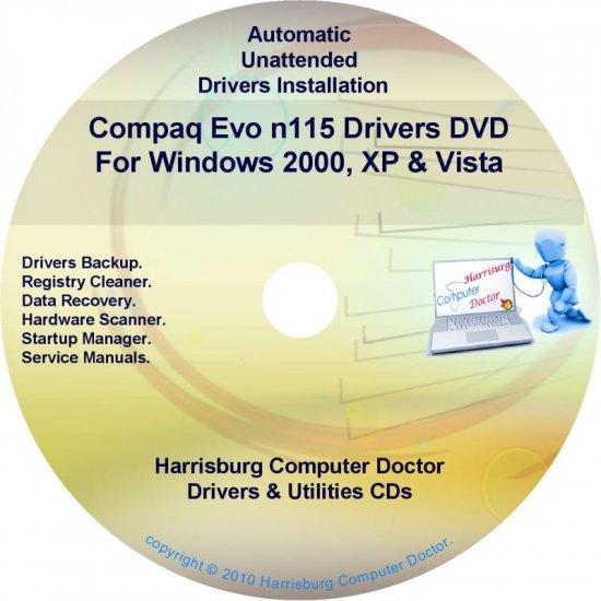 Compaq Evo n115 Drivers Restore HP Disc Disk CD/DVD