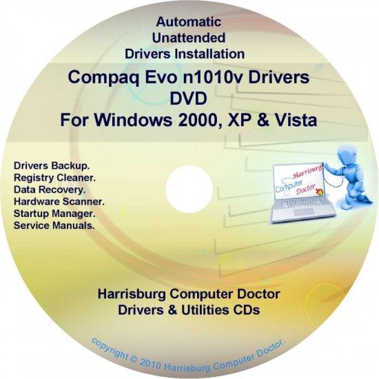 Compaq Evo n1010v Drivers Restore HP Disc Disk CD/DVD