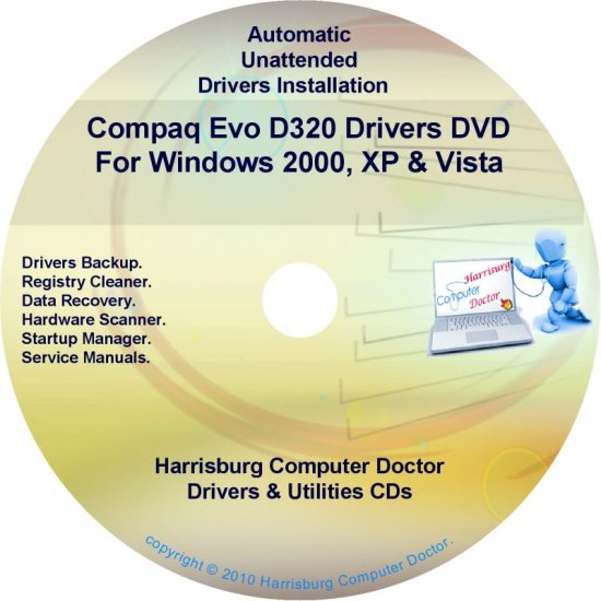 Compaq Evo D320 Drivers Restore HP Disc Disk CD/DVD