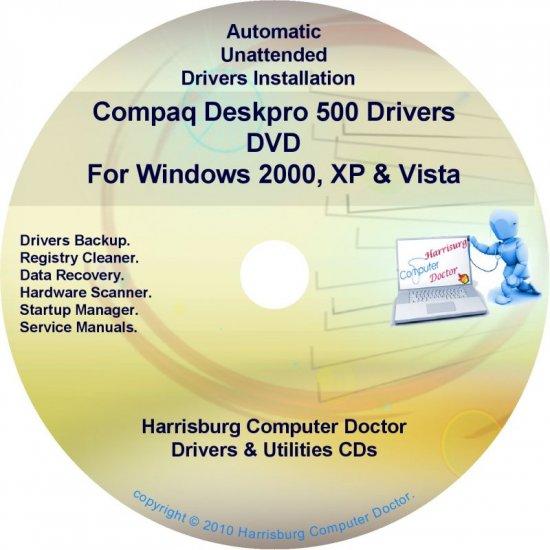 Compaq Deskpro 500 Drivers Restore HP Disc Disk CD/DVD