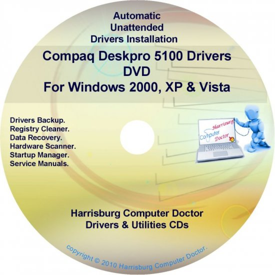 Compaq Deskpro 5100 Drivers Restore HP Disc Disk CD/DVD