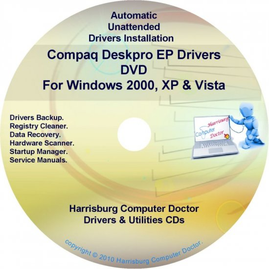 Compaq Deskpro EP Drivers Restore HP Disc Disk CD/DVD