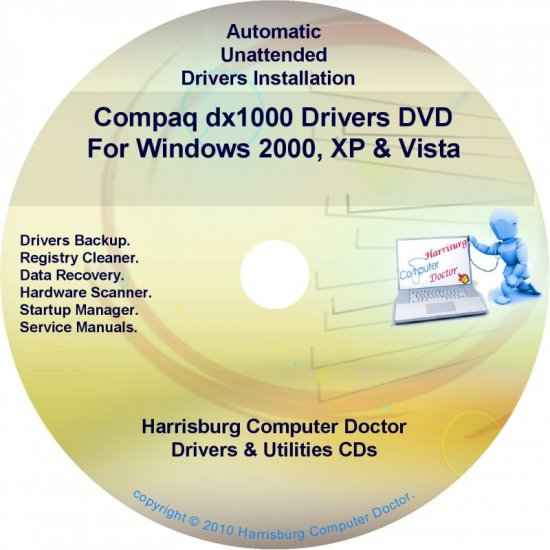Compaq dx1000 Drivers Restore HP Disc Disk CD/DVD