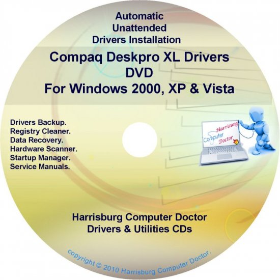 Compaq Deskpro XL Drivers Restore HP Disc Disk CD/DVD