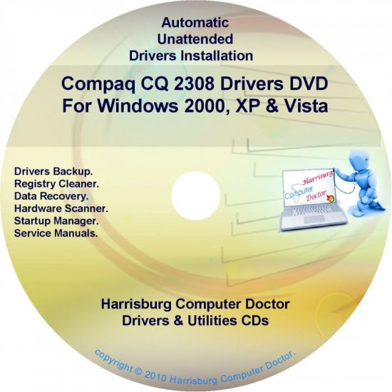 Compaq CQ2308 Drivers Restore HP Disc Disk CD/DVD