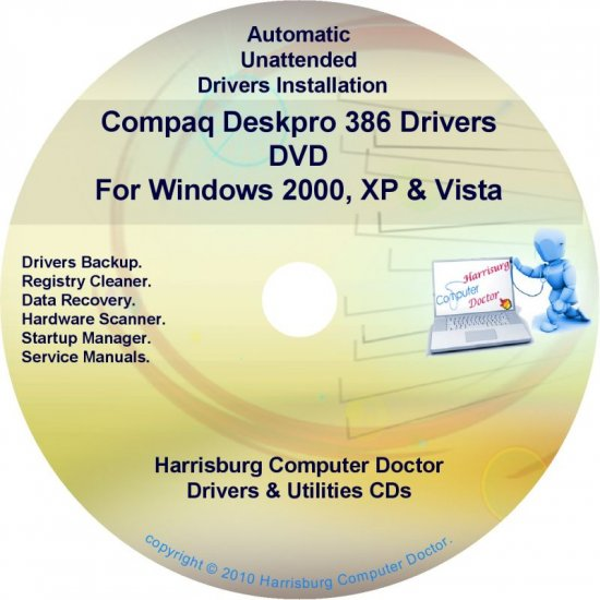 Compaq Deskpro 386 Drivers Restore HP Disc Disk CD/DVD