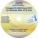 Compaq CQ2205 Drivers Restore HP Disc Disk CD/DVD