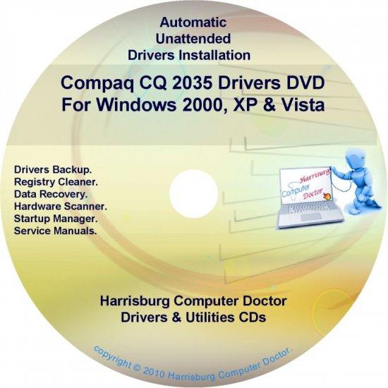 Compaq CQ2035 Drivers Restore HP Disc Disk CD/DVD