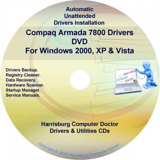 Compaq Armada 7800 Drivers Restore HP Disc Disk CD/DVD