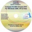 Compaq CQ2003 Drivers Restore HP Disc Disk CD/DVD