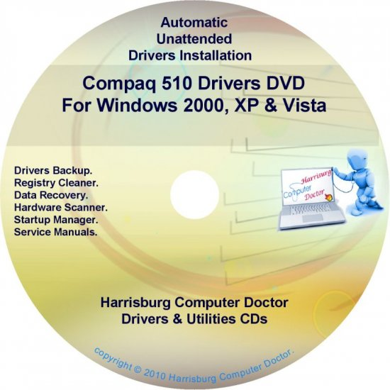 Compaq 510 Drivers Restore HP Disc Disk CD/DVD