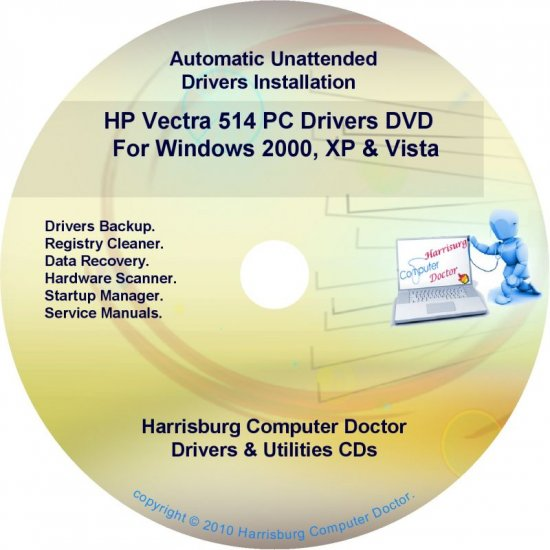 HP Vectra 514 PC Driver Recovery Restore Disc CD/DVD