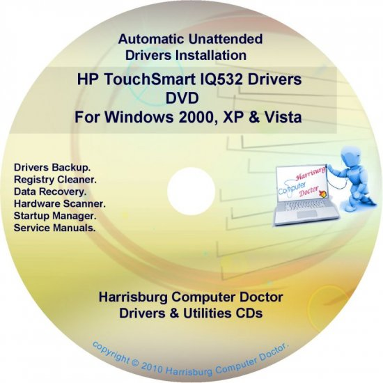 HP TouchSmart IQ532 Driver Recovery Disc CD/DVD