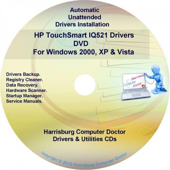 HP TouchSmart IQ521 Driver Recovery Disc CD/DVD
