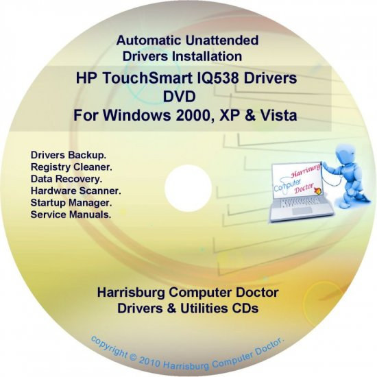 HP TouchSmart IQ538 Driver Recovery Disc CD/DVD