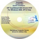 HP TouchSmart 600 Driver Recovery Disc CD/DVD