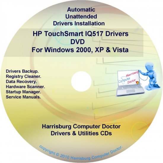 HP TouchSmart IQ517 Driver Recovery Disc CD/DVD