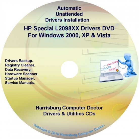 HP Special L2098XX Driver Recovery Disc CD/DVD
