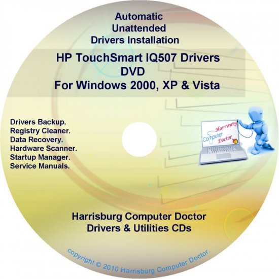 HP TouchSmart IQ507 Driver Recovery Disc CD/DVD
