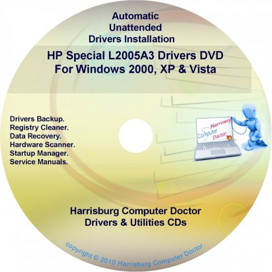 HP Special L2005A3 Driver Recovery Disc CD/DVD