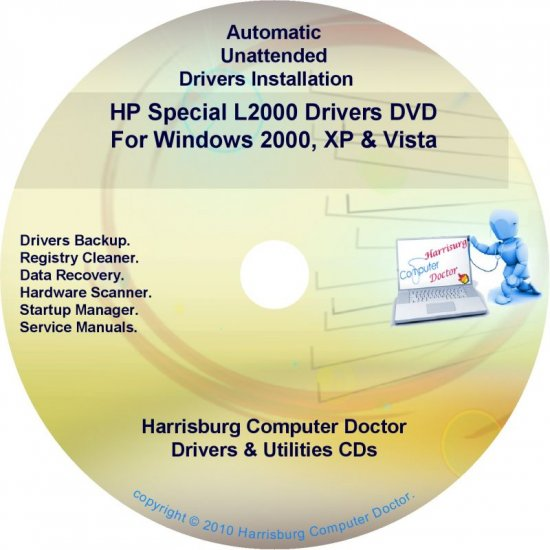 HP Special L2000 Driver Recovery Restore Disc CD/DVD