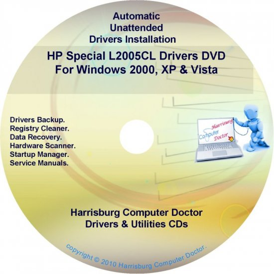 HP Special L2005CL Driver Recovery Disc CD/DVD