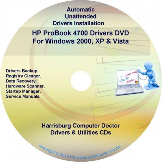 HP ProBook 4700 Driver Recovery Restore Disc CD/DVD