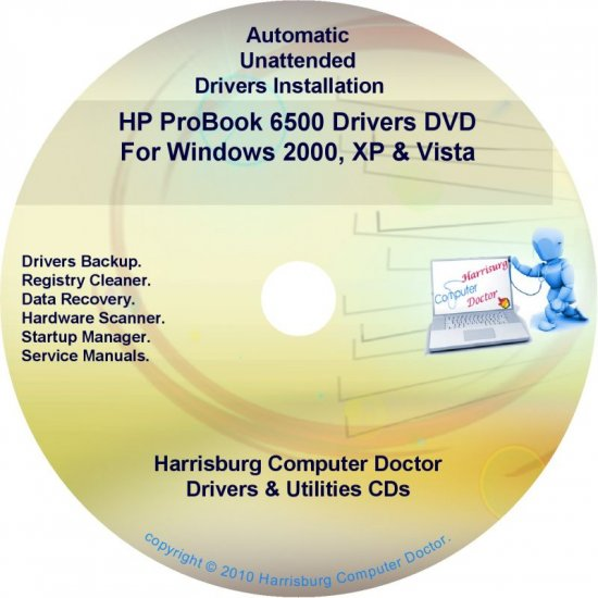 HP ProBook 6500 Driver Recovery Restore Disc CD/DVD