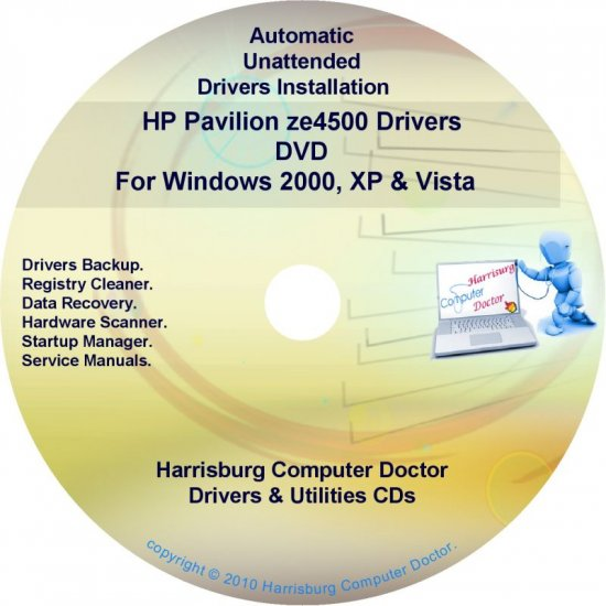 HP Pavilion ze4500 Driver Recovery Restore Disc CD/DVD