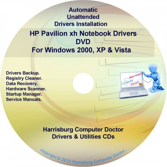 HP Pavilion xh Notebook Driver Recovery Disc CD/DVD