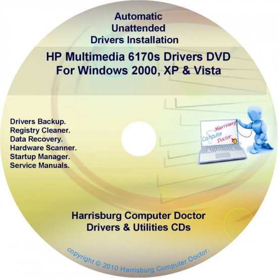 HP Multimedia 6170s Driver Recovery Disc CD/DVD