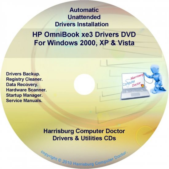 HP OmniBook xe3 Driver Recovery Disc CD/DVD