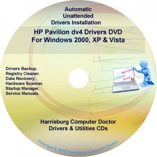 HP Pavilion dv4 Driver Recovery Disc CD/DVD