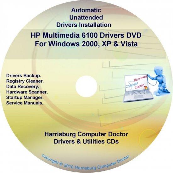 HP Multimedia 6100 Driver Recovery Restore Disc CD/DVD