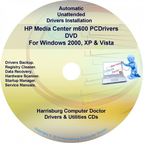 HP Media Center m600 Driver Recovery Disc CD/DVD