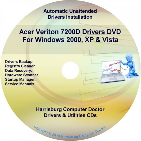 Acer Veriton 7200D Drivers Restore Recovery CD/DVD
