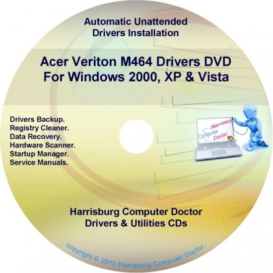 Acer Veriton M464 Drivers Restore Recovery CD/DVD