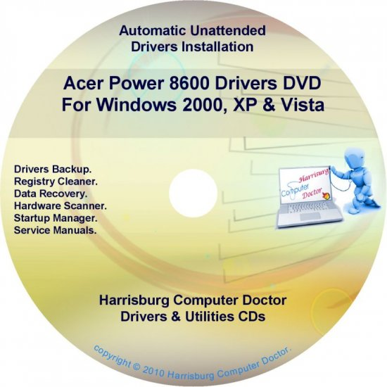 Acer Power 8600 Drivers Restore Recovery CD/DVD