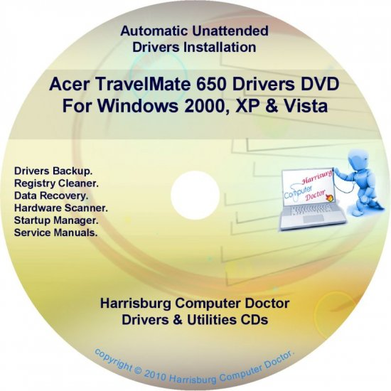 Acer TravelMate 650 Drivers Restore Recovery CD/DVD