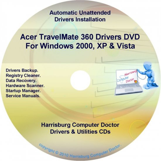 Acer TravelMate 360 Drivers Restore Recovery CD/DVD